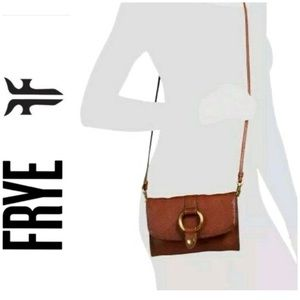 Frye Bags - NWT FRYE genuine leather ring crossbody cognac
